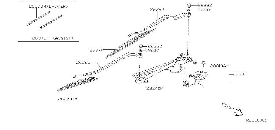 Nissan X-Trail Blade Windshield Wiper No 1. DRIVER, SED