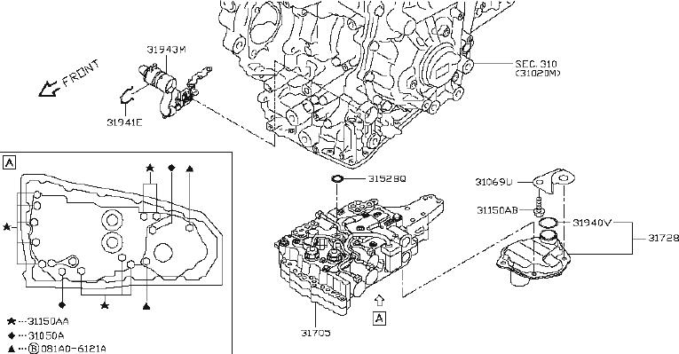 Nissan Maxima Transmission Filter. CVT, VALVE, CONTROL