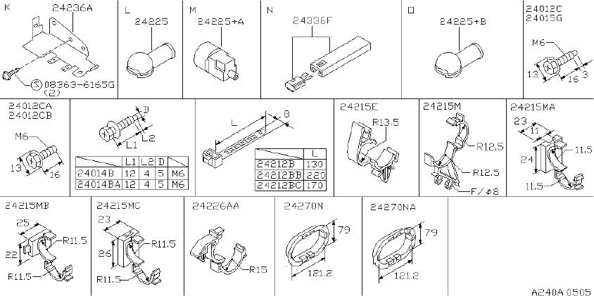 Nissan Axxess Connector Harness Repair, 3P. LAMP, HEAD