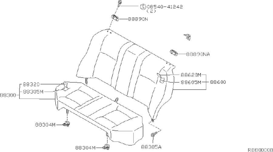 Nissan Sentra Hook Seat Belt. Seat Belt Extender Arm