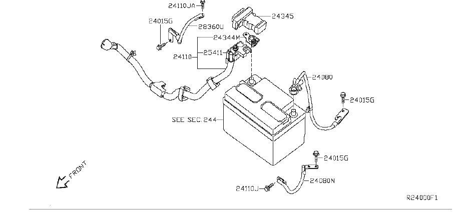 Nissan Sentra Label Fuse Block. SUNROOF, HARNESS, KEY