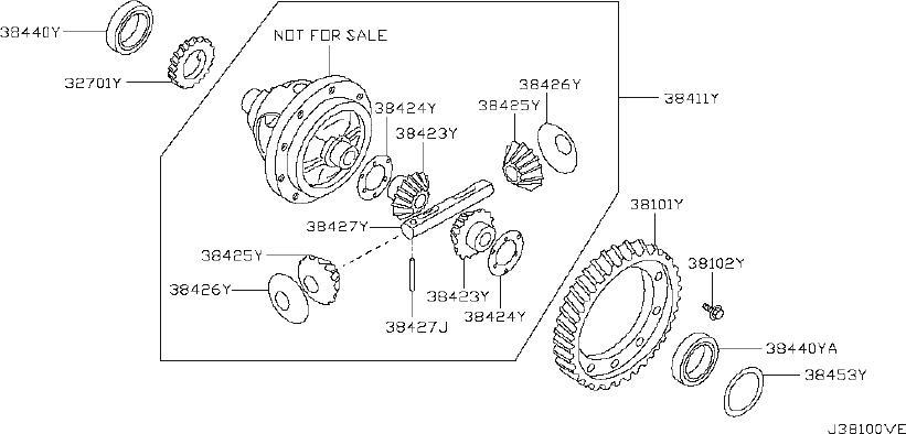 Nissan Sentra Manual Transmission Differential Bearing