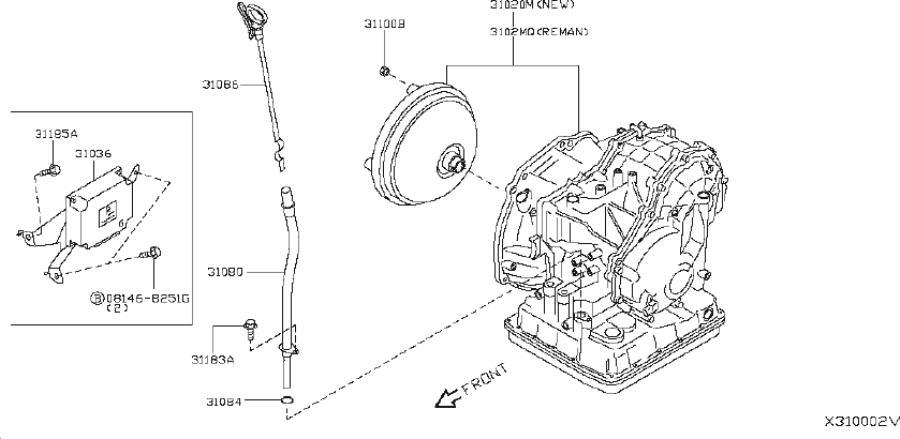 Nissan Versa Automatic Transmission Oil Cooler Hose
