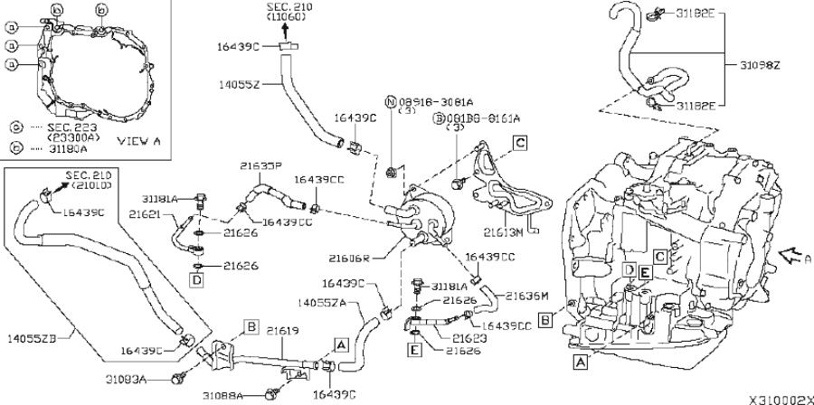 Nissan Versa Automatic Transaxle REMANUFACTURED. COOLER