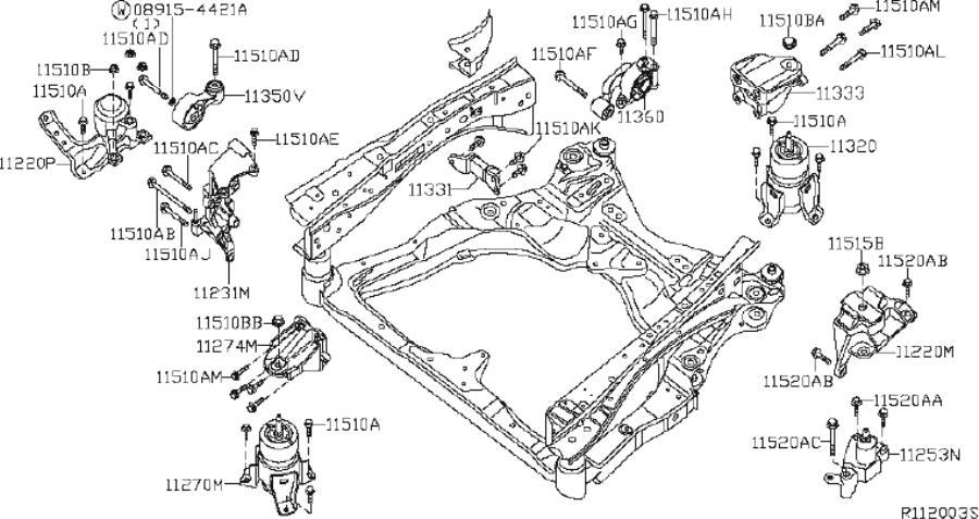 Nissan Altima Manual Transmission Mount (Left, Front