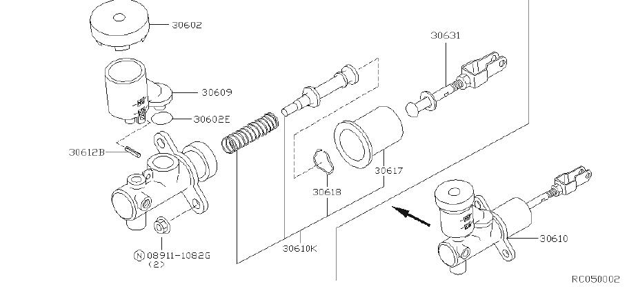 Nissan Frontier Clutch Master Cylinder Repair Kit. NABCO