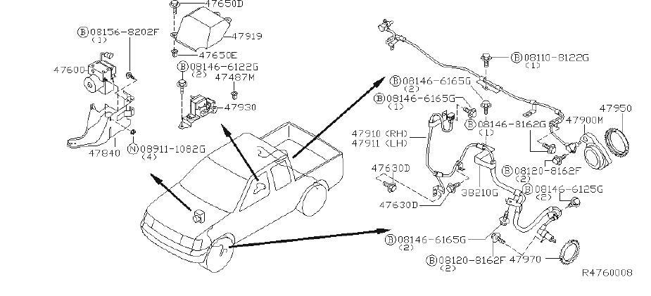 Nissan Frontier Abs Wheel Speed Sensor Tone Ring (Rear