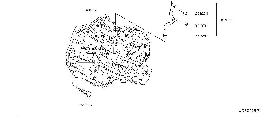 Nissan Juke Manual Transmission. FITTING, TRANSAXLE
