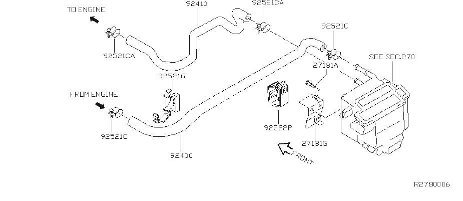 Nissan Altima Clip Wiring Harness. CAL, FED, ENGINE