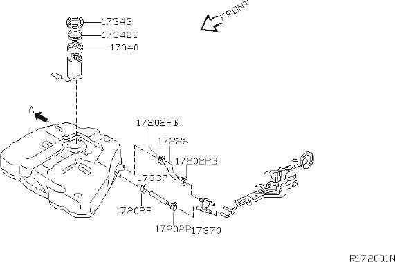 Nissan Altima Fuel pump-in tank. Piping, change, anced