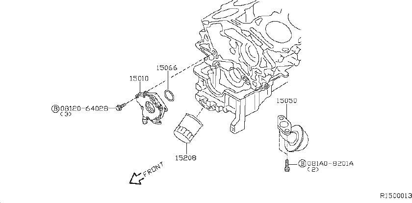 Nissan Xterra Engine Oil Filter. LUBRICATION, LUBRICATING