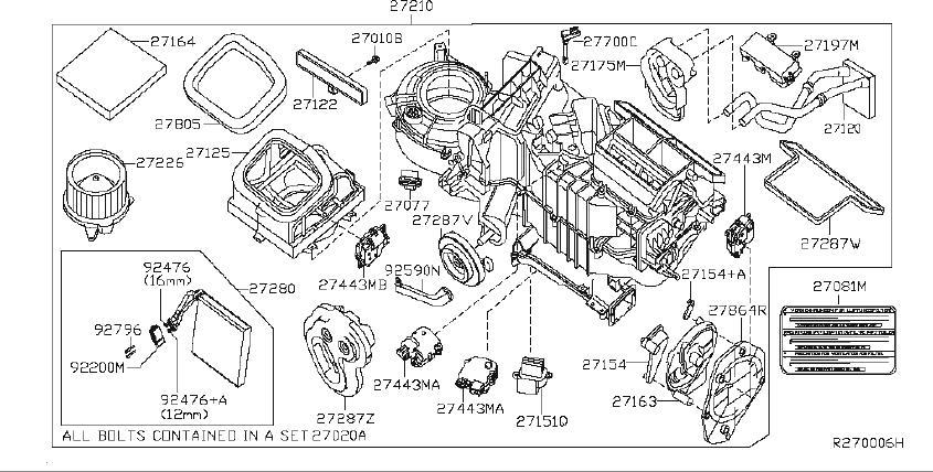 Nissan Xterra Windshield Defroster Nozzle. KRTXZ, HEATER
