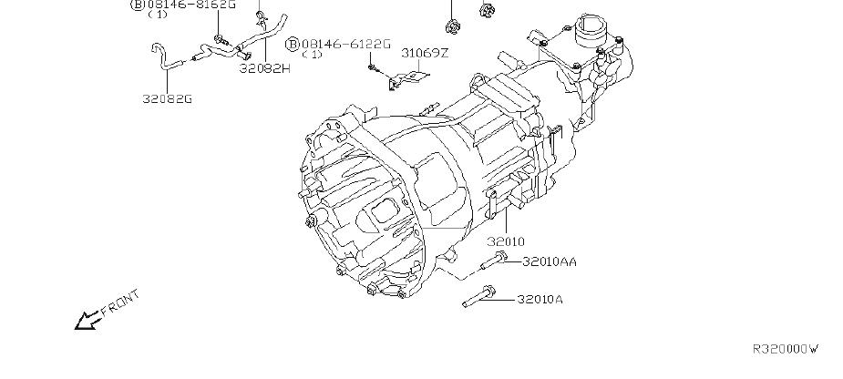 Nissan Xterra Manual Transmission. FITTING, BED, ASSY