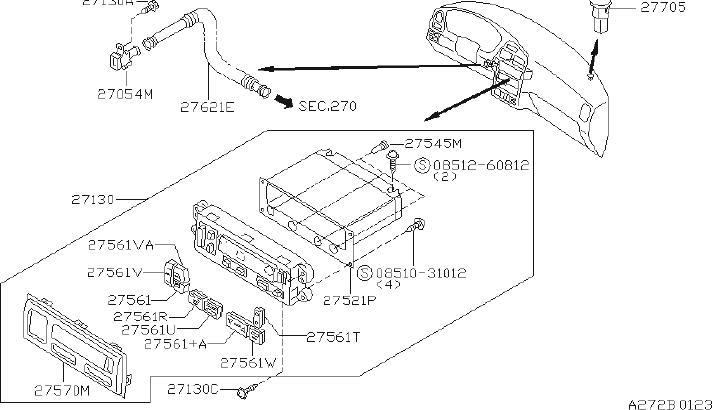 Nissan Pathfinder Lamp Heater Control. AIR, AUTO, BUTTON