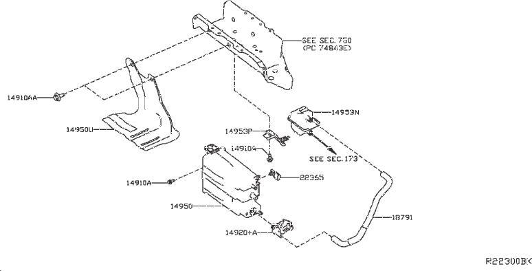 Nissan Pathfinder Evaporative Emission Canister. EMISSIONS