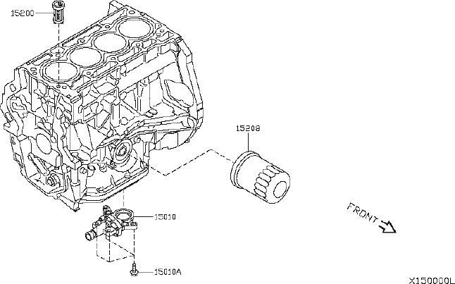 Nissan Versa Engine Intake Manifold Bolt. COVER, FRONT
