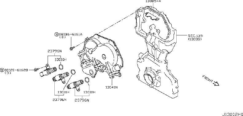 Nissan Rogue Engine Balance Shaft Chain. CAMSHAFT