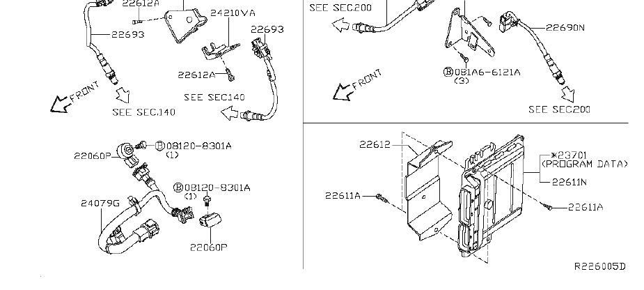 Nissan Armada Engine Control Module. FUEL, FLX, PACKAGE