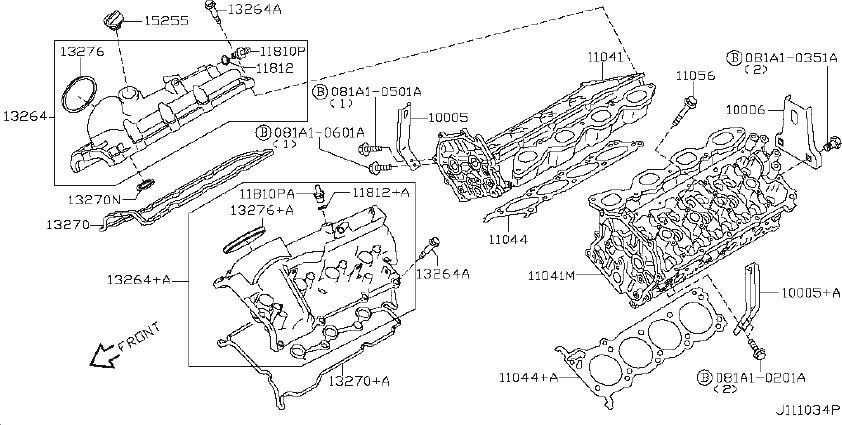 Nissan Armada Engine Valve Seat. COMPONENT, ASSEMBLY, HEAD