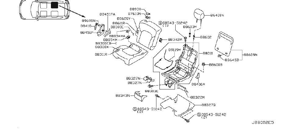 Nissan Armada Escutcheon-rear seat belt. Bench, left