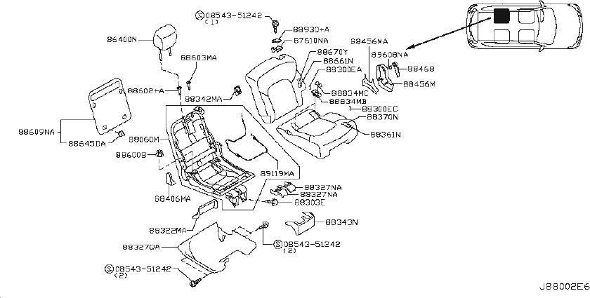 Nissan Armada Seat Trim Panel (Right). BENCH, CAPTAIN