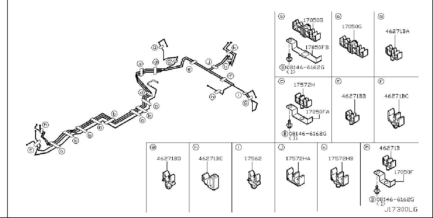 Nissan 350Z Evaporative Emissions System Lines. FUEL