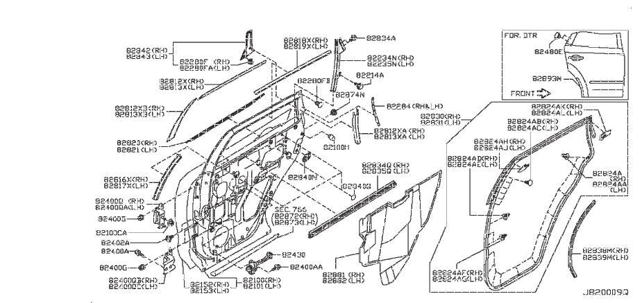 Nissan Murano Protector Door, R. (Left, Right, Rear