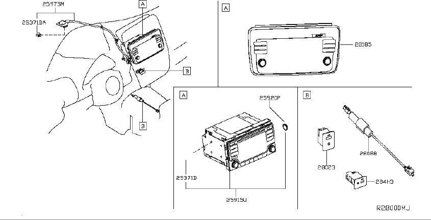 Nissan Leaf Radio Wiring Harness. AUDIO, UNIT, ANTENNA