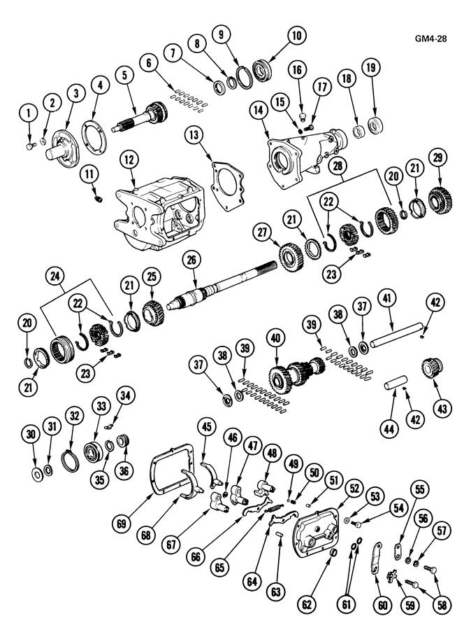 Sm420 Transmission Diagram Muncie Transmission Diagram