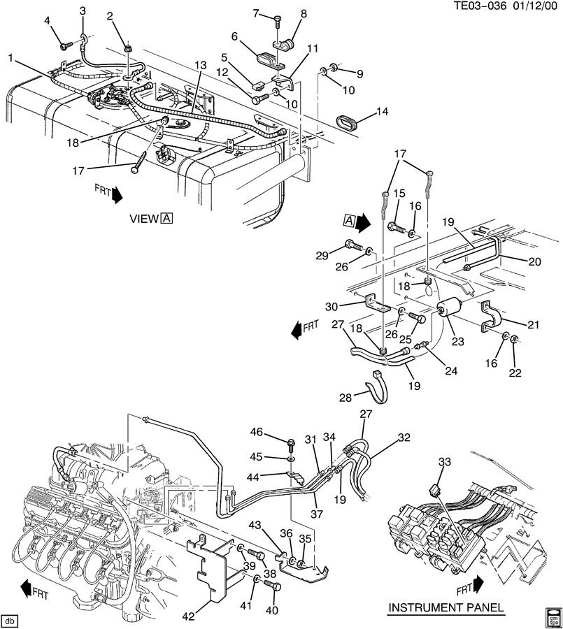 1988 Chevrolet S10 FUEL SUPPLY SYSTEM