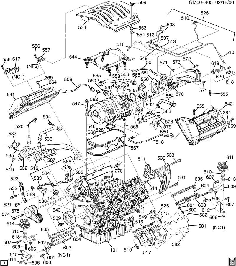 ENGINE ASM-3.5L V6 PART 5 MANIFOLDS & FUEL RELATED PARTS