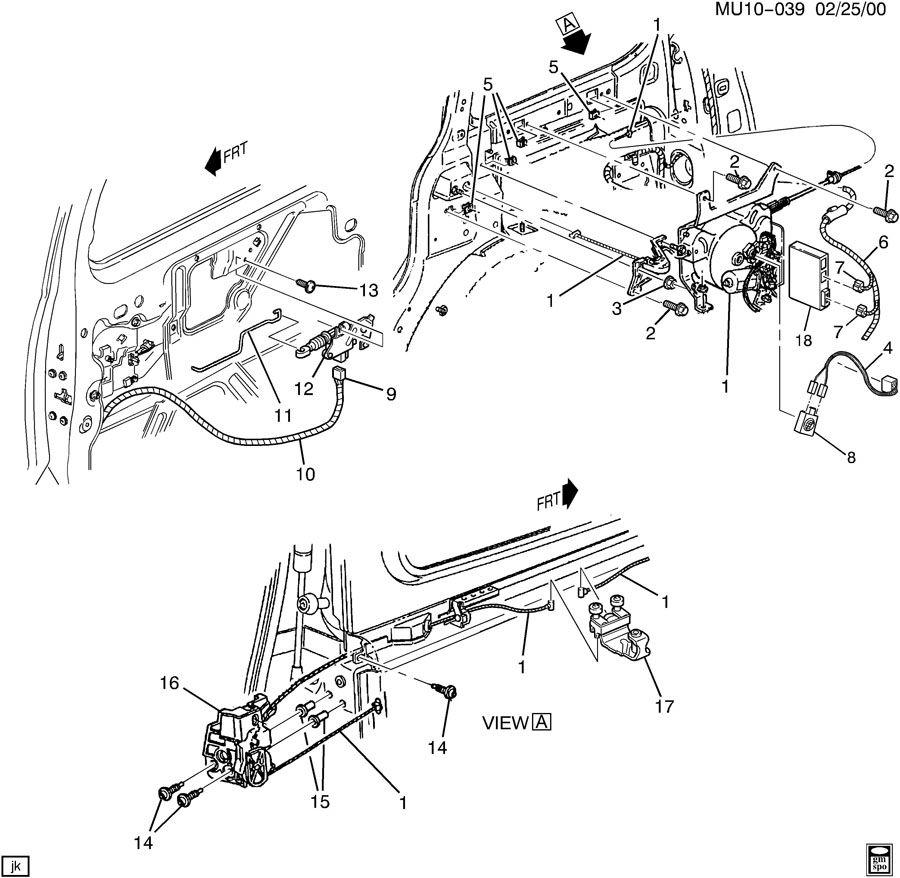 2005 Pontiac DOOR HARDWARE/REAR SLIDING ACTUATOR