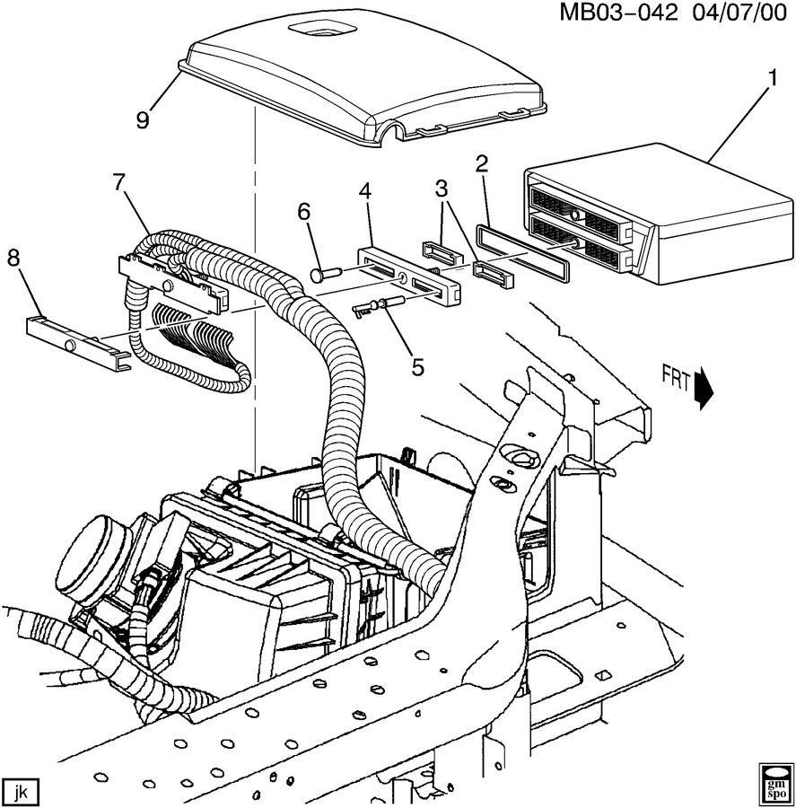 2006 Buick TERRAZA P.C.M. MODULE & WIRING HARNESS