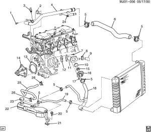 cyl 2 2l mfi 133cid 2 2 ln2 tnk control plastic fuel tank