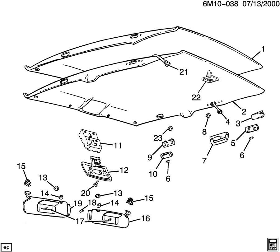 Service manual [Replace Headliner In A 1992 Cadillac