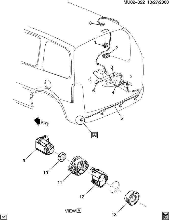 2002 Oldsmobile Silhouette SENSOR SYSTEM/REAR OBJECT