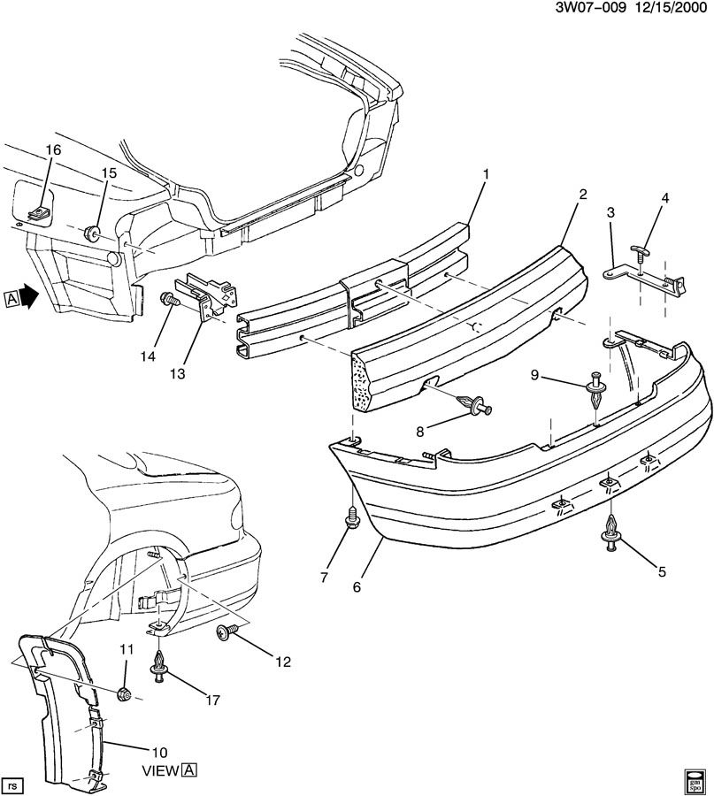 1999 Oldsmobile Intrigue BUMPER/REAR