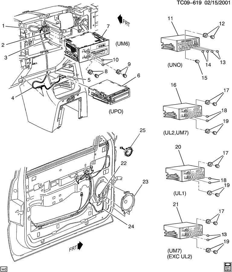 Chevrolet Silverado AUDIO SYSTEM/FRONT