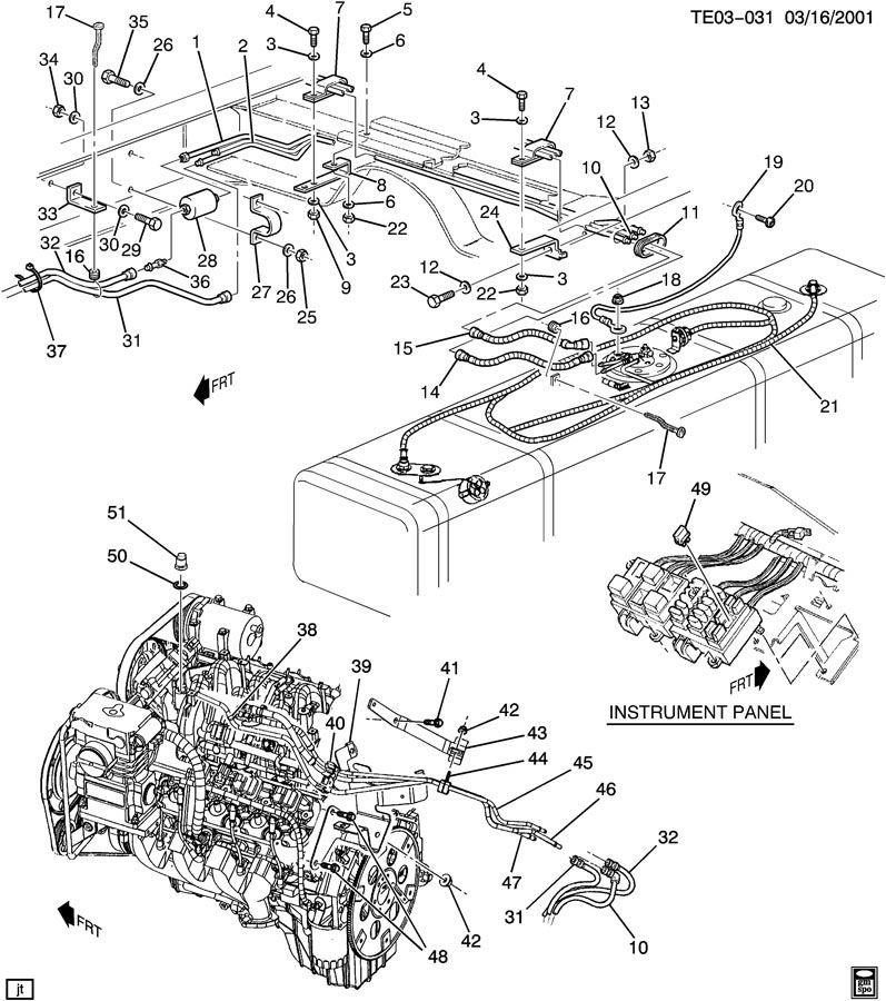 1995 GMC SONOMA GT FUEL SUPPLY SYSTEM