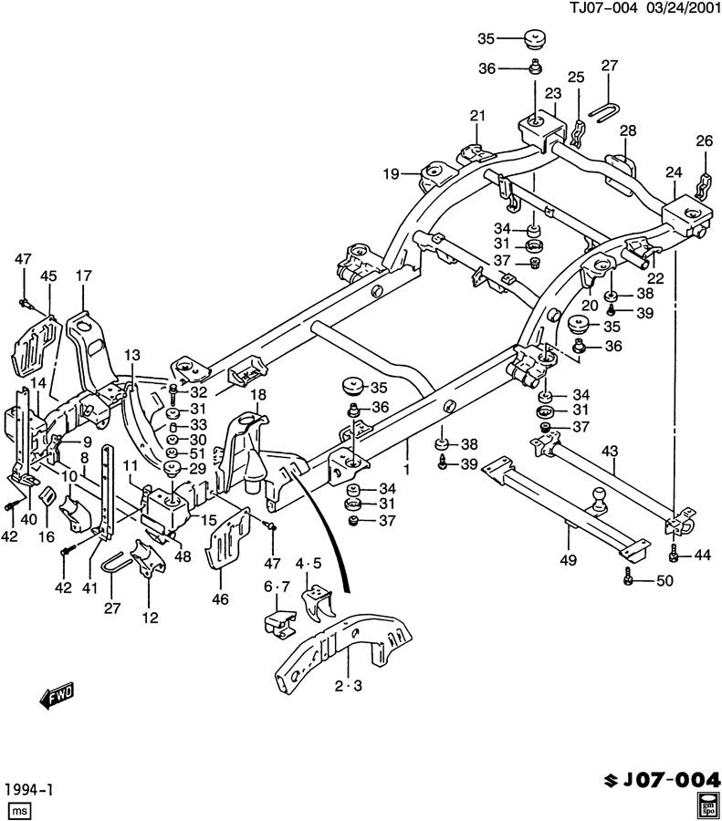 [Exploded View Of 1992 Geo Tracker Manual Gearbox