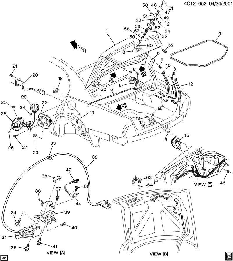 1998 Chevrolet BLAZER REAR COMPARTMENT HARDWARE