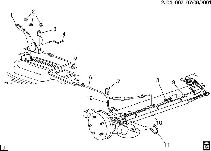 Service manual [2002 Pontiac Aztek Brake Drum Structure