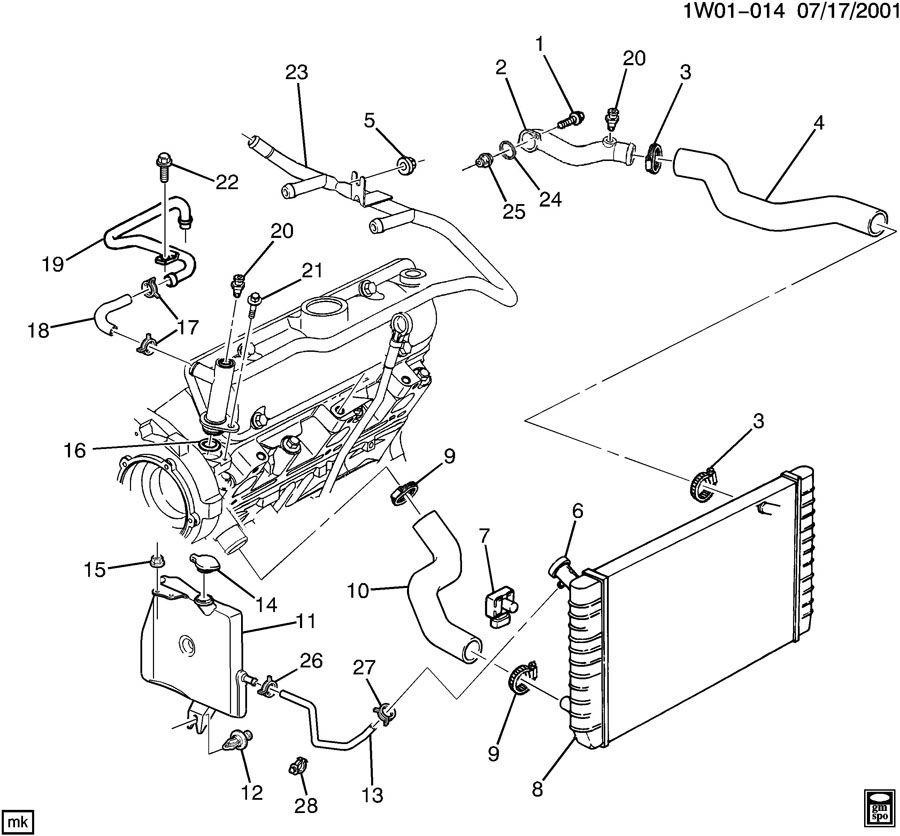2001 Chevrolet Monte Carlo HOSES & PIPES/RADIATOR
