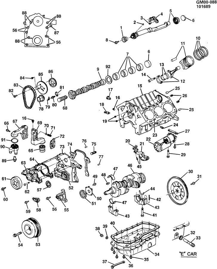 3800 3.8 Chevy Engine Diagram
