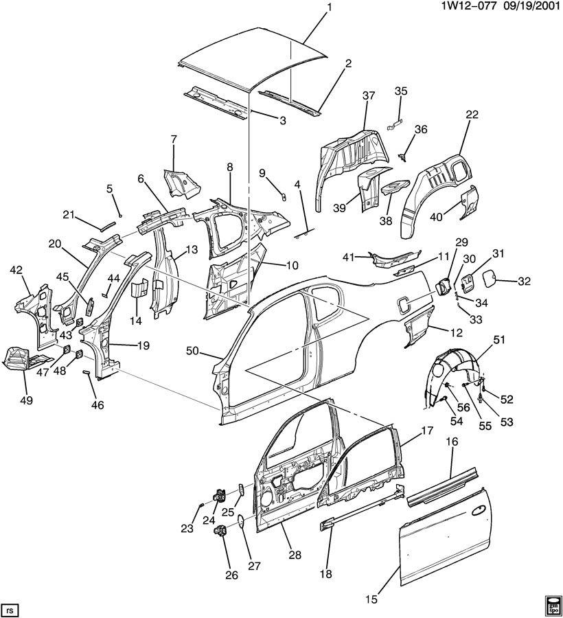 Chevrolet Impala SHEET METAL/BODY-SIDE FRAME, DOOR & ROOF