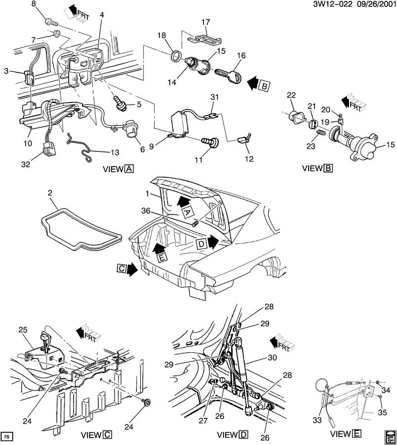 2002 Buick Rendezvous Rear Suspension Parts Diagram. Buick