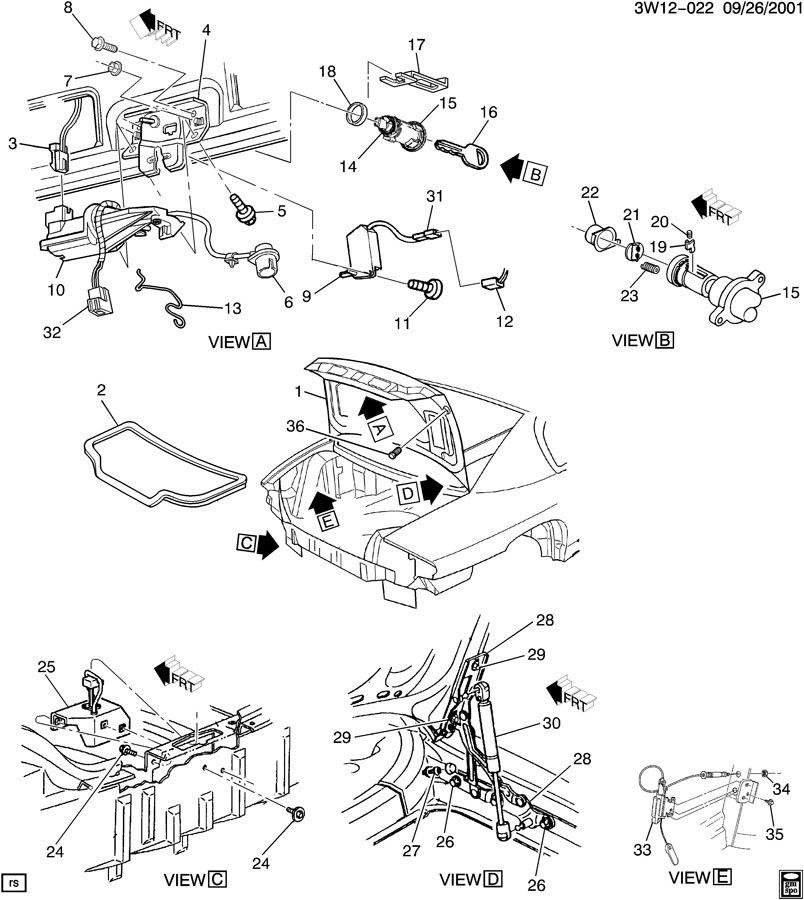 2002 Buick Rendezvous Rear Suspension Parts Diagram. Buick