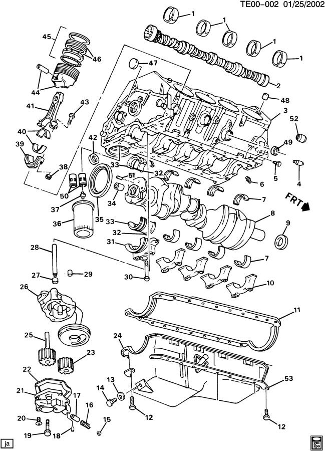 ENGINE ASM-V8 PART 1 BLOCK & RELATED PARTS