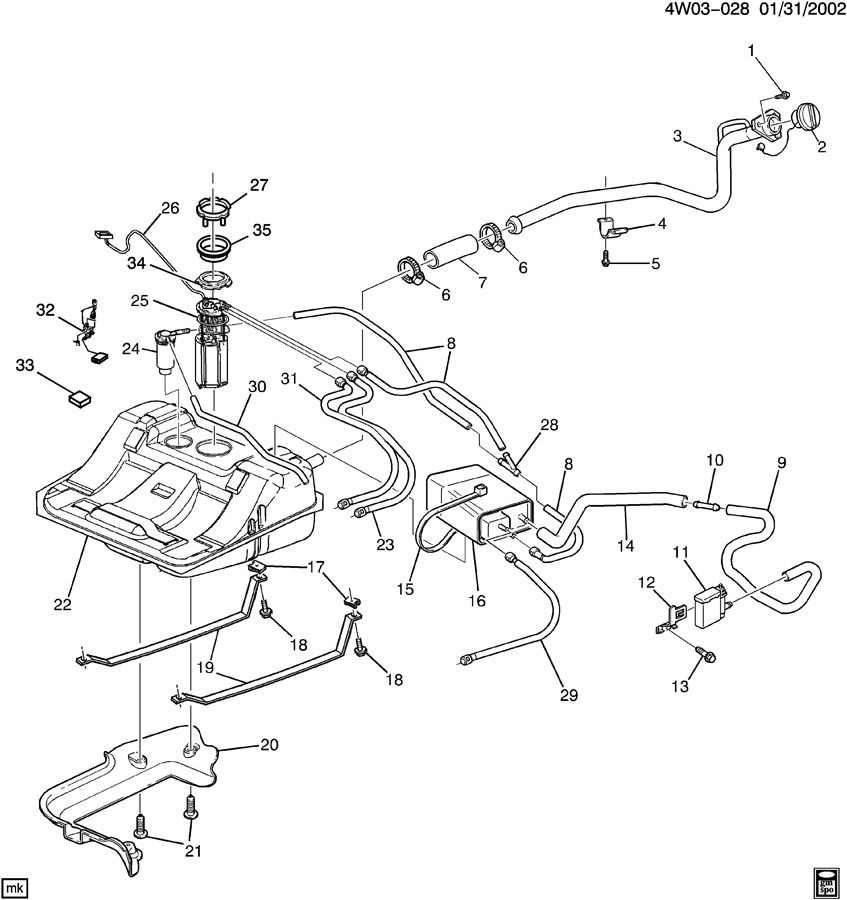 2000 Buick Century Parts Diagram Fuel Level Sensor. Buick