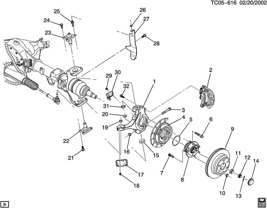 2005 GMC Sierra AXLE ASM/REAR 9.75 RING GEAR PART 2